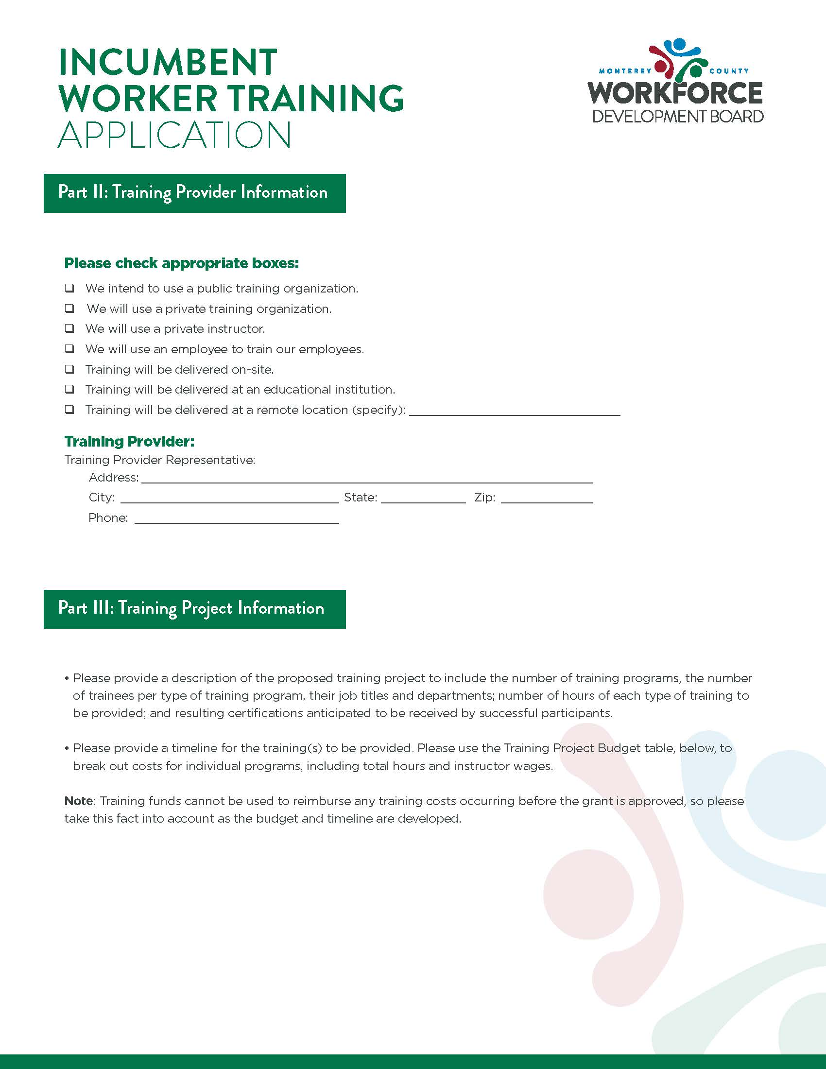 application page 2