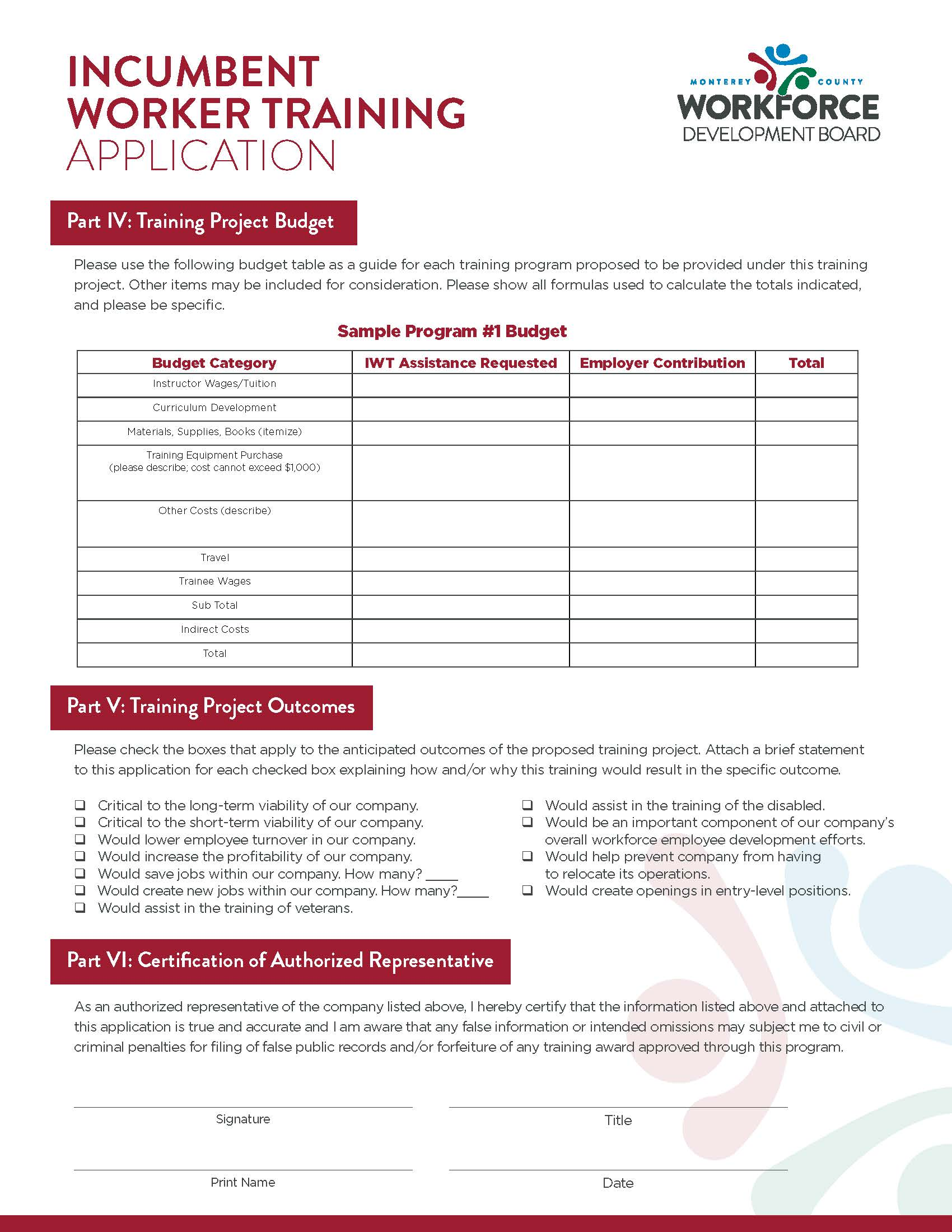 application page 3
