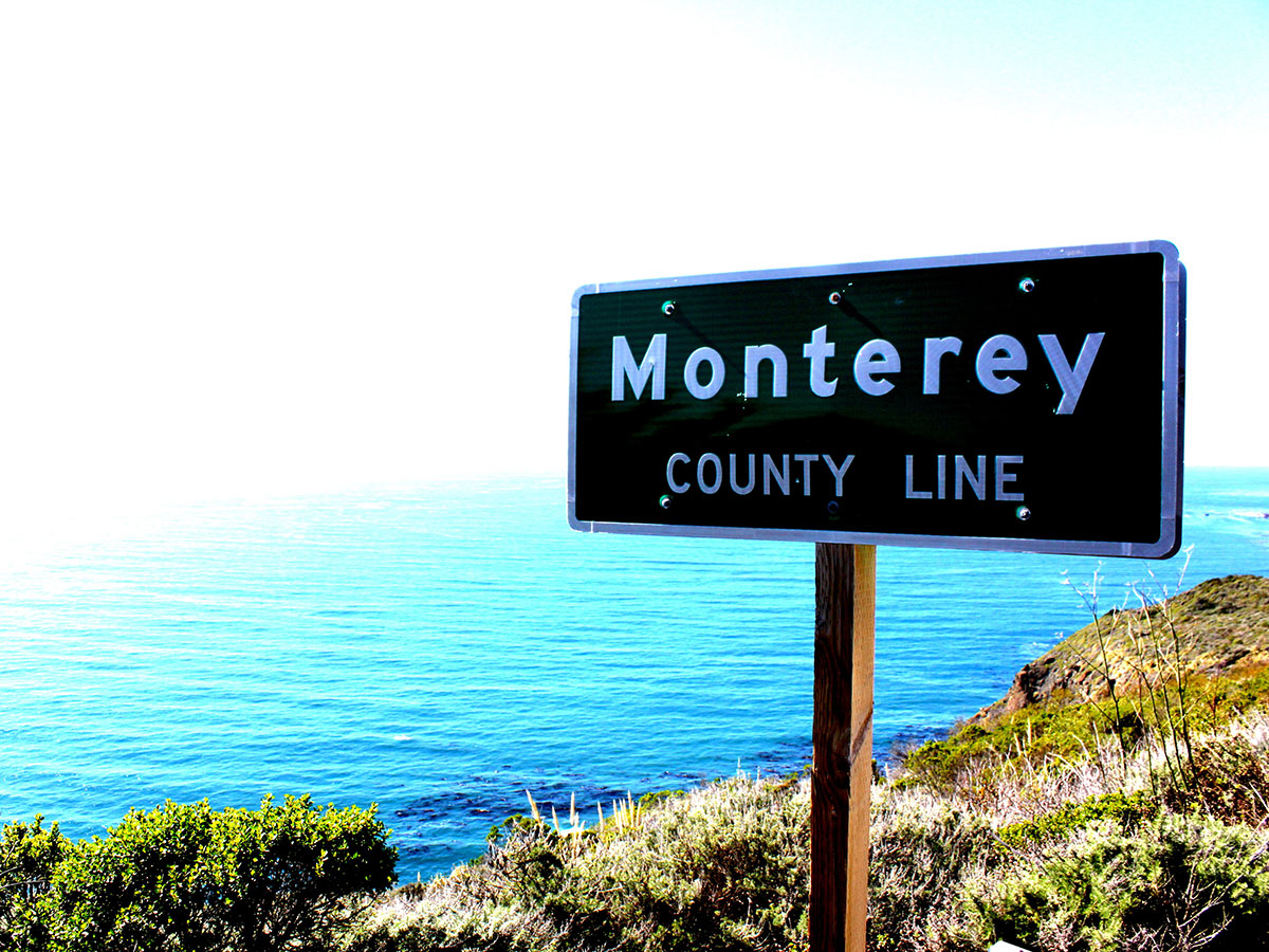 monterey county line sign