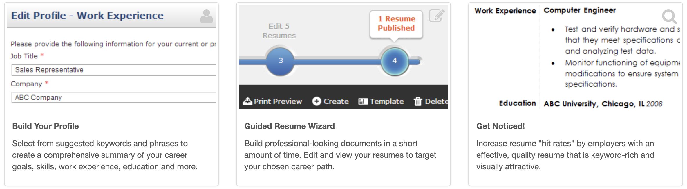 resume hero options screen capture