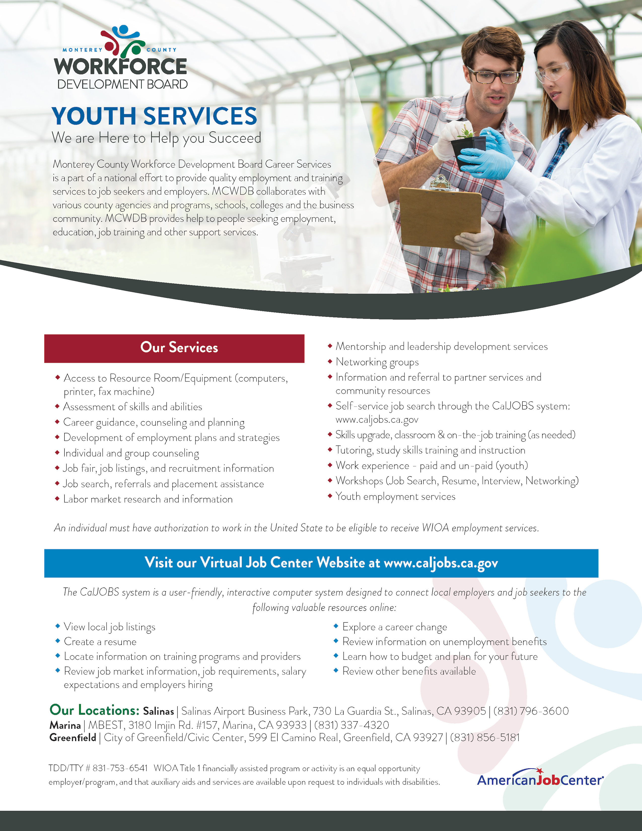 career services flyer