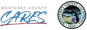 Monterey County CARES logo and Monterey County logo